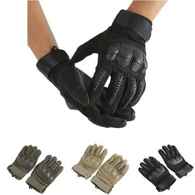 Military Tactical Outdoor Working Knuckle Full Finger Motorcycle Racing Gloves