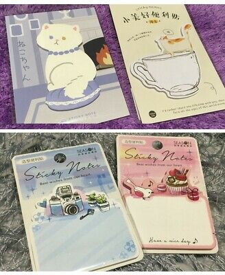 Hello Kitty Sticky Note Pads Cute Memo Message Gift + Magnet New Bookmark Flag