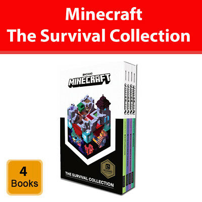Minecraft The Survival Collection 4 book Set Slipcase Edition from Mojang pack