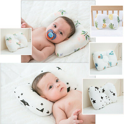 AU Newborn Baby Cot Pillow Prevent Flat Head Positione Cushion Sleeping Support