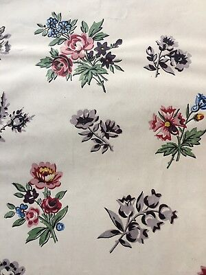 Antique Original Late 19th C/early 20thC HAND PAINTED Textile Design /French
