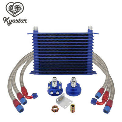Universal Engine Transmission 10AN 15-Row Trust Type Oil Cooler Relocation Kit