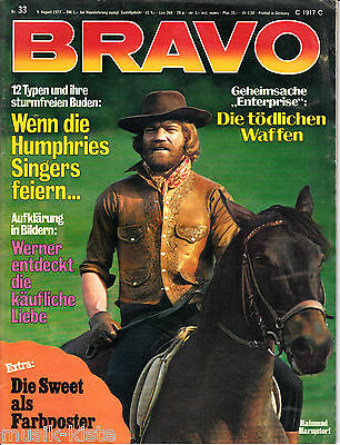 BRAVO Nr. 33 - 9.Aug. 1972 > The Sweet Poster, Les Humphries,Christian Anders