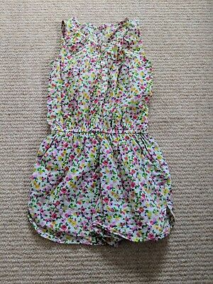 Next Girls flowers Age 3 (2-4) Years Romper Playsuit White jumpsuit shorts pink