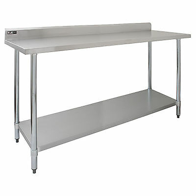 Commercial Premium Bench Table Stainless Steel Kitchen Prep Catering Surface 6FT