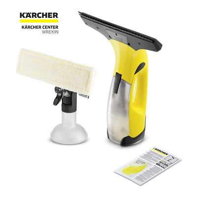 Karcher Window Vac Cordless Rechargeable Vacuum Steam Glass Cleaner WV
