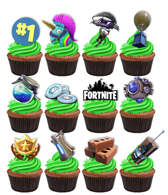 Fortnite Edible Cupcake Cake Toppers Decorations #246