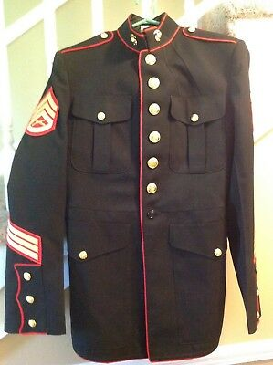 Usmc Dress Blues Coat Marine Corps Formal Uniform Blue Jacket Size