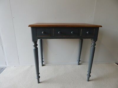 Small 3 Drawer Victorian painted pine side table c1890 original,Farrow&BallPaint