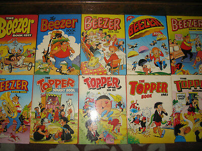The topper and beezer annual book job lot x 10 1970/80s