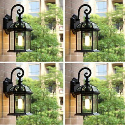 4pcs Outdoor Wall Sconce Lantern Lamp Chimney Porch Lighting Exterior Fixture MY