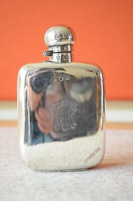 Flachmann pocket flask Sterling Silber 925  Sheffield 1919