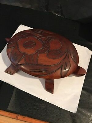 """Hand Carved Solid Wood Turtle Trinket Box/Jewelry Box/Candy Dish  11"""" X 6"""" 🐢🐢"""