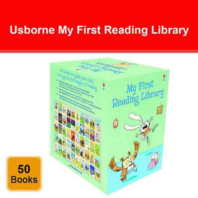 Usborne Very First Reading Library 50 Books Collection Set Pack Read At Home NEW