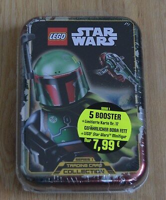 Lego® Star Wars™ Serie 1 Trading Card Game Mini Tin Boba Fett LE17 + 5 Booster