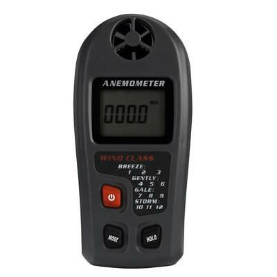 1X(Portable Digital Anemometer Anemometro Thermometer MT20 Wind Speed Gauge U4S5