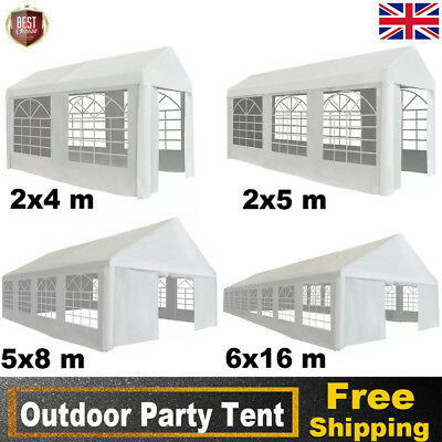 Garden Marquee Tent Canopy for Wedding Party BBQ Camping Event Multi Sizes White