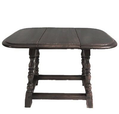 Antique English Oak Small Drop Leaf Swivel Coffee Table ~Wine Table~Side Table