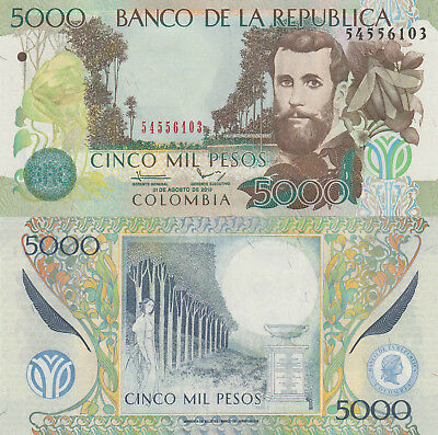 Colombia 5000 Pesos (31.8.2013) - Winged Insect/Moon/p452o UNC