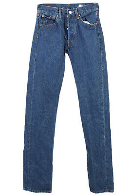 eb8bbe5f152 Vintage Levi s 501 XX Jeans High Waist Red Tab Button Fly Navy Waist  26 -