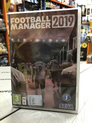 Football Manager 2019 Ita PC DVD-ROM MacOS NUOVO SIGILLATO