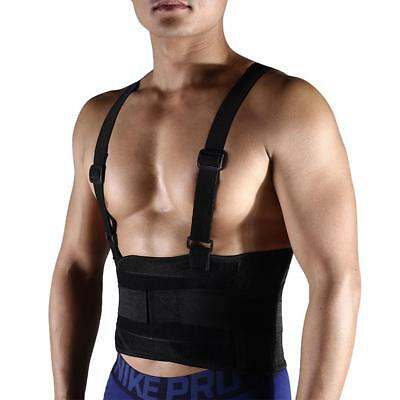 Weight Lifting Belt Neoprene Gym Fitness Workout Double Support Brace Black UK