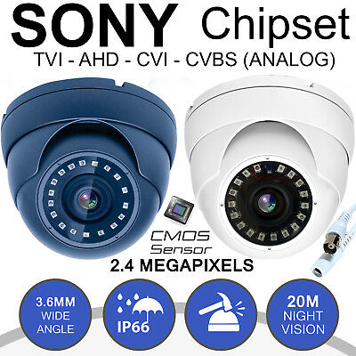 CCTV Camera Dome 2.4MP AHD HD 1080p Security Night Vision 18 IR LEDs Indoor Cam