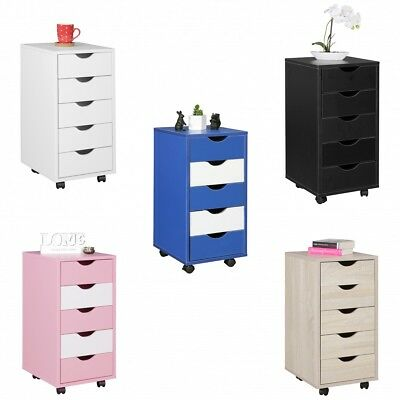 Roll container 5 drawers children standing container office MDF wood modern