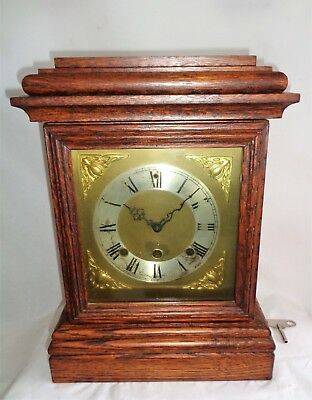 Antique Bracket Clock for Restoration with 'Hermle' Replacement Movement