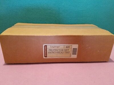 Longaberger Heartwood Bread Basket Protector Set 40297 NEW SEALED BOX