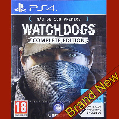 WATCH DOGS COMPLETE EDITION - PlayStation 4 PS4 ~18+ Brand New & Sealed!