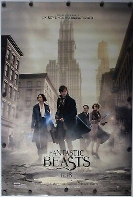 """Fantastic Beasts and Where to  Find Them 2016 DS Original Movie Poster 27"""" x 40"""""""