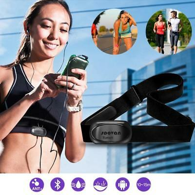 Soft Chest Belt Strap Bluetooth ANT Sensor Wireless Sports Heart Rate Monitor UK
