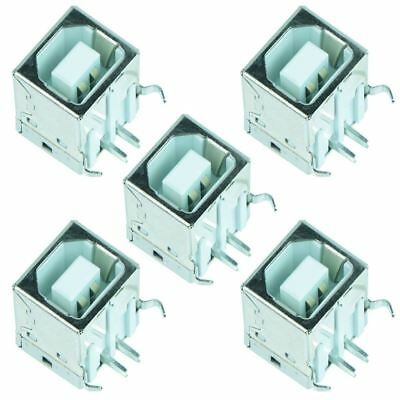 5 x USB Type B Right Angle Female Socket PCB Connector