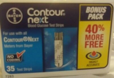 1 BOX - 35ct. Bayer Contour Next Exp. 12/31/18 Test Strips SEALED &READY TO USE!