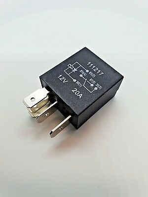 Quality Micro Relay 5 Pin with Diode, Changeover 12Volt 20 Amp.