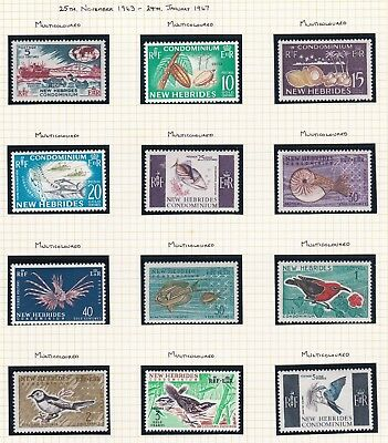 Commonwealth. New Hebrides. 1963-69 issues. SIX PAGES. Mint. and MNH