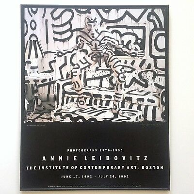 Rare Vintage 1992 Annie Leibiovitz & Keith Haring Ica Exhbtn Print Framed Poster