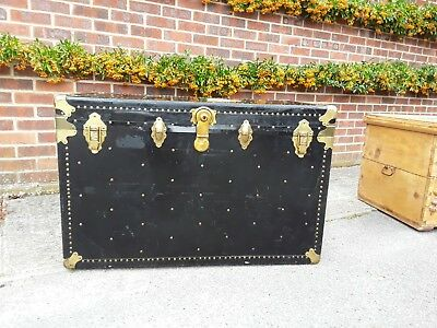 Gorgeous black steamer trunk/chest