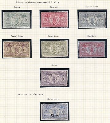 Commonwealth. New Hebrides. Nouvelles-Hebrides. 1913-24 French Issue selection