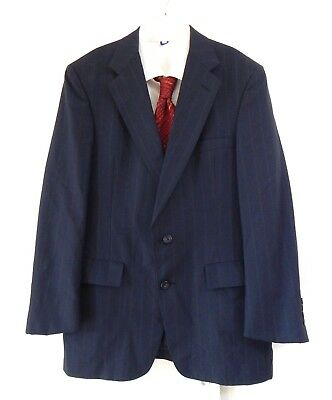 Anzuge 42s Italian Made Austin Reed Mens Navy Blue Overcheck Suit Jacket 40s 44l 46r Kleidung Accessoires Sticisce Sredisce Si