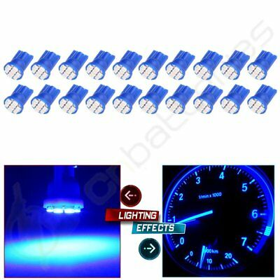 20X T10 W5W 194 168 501 Car Blue 8 SMD LED 3020 SMD Wedge Side Light Bulb Lamp