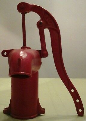 "ANTIQUE Cast Iron Hand WATER PUMP Measures 13.5"" High"