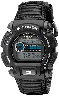 Casio Men's G-Shock Digital Quartz Canvas Strap Grey Watch DW-9052V-1C
