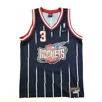 HOUSTON ROCKETS STEVE Francis  3 NBA Basketball Nike Sewn Red Jersey ... 8ddb83846