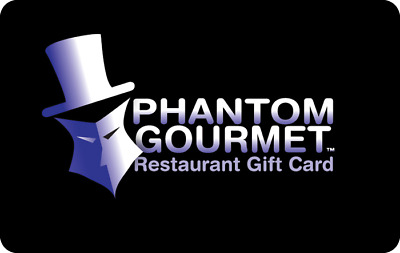 Phantom Gourmet Gift Card - $25 $50 $100 - Email delivery