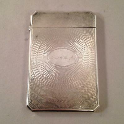 Coin Silver Card Case by Albert Coles Mrs. J W Hughes New York