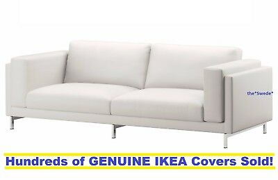 IKEA NOCKEBY Three (3) Seat Sofa Cover Slipcover RISANE WHITE New in Box!