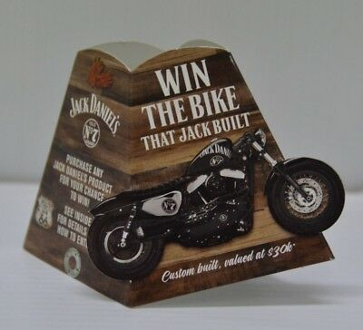 Jack Daniel's Old No.7 Brand Collectible Win A Bike Competition Bottle Neck Card