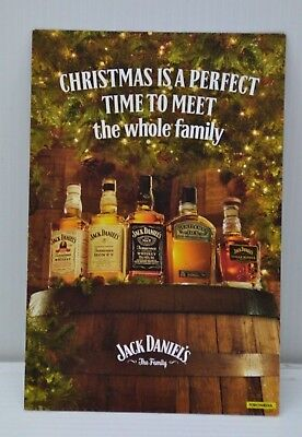 Jack Daniel's The Family Christmas Brand New Collectible Double Sided Card